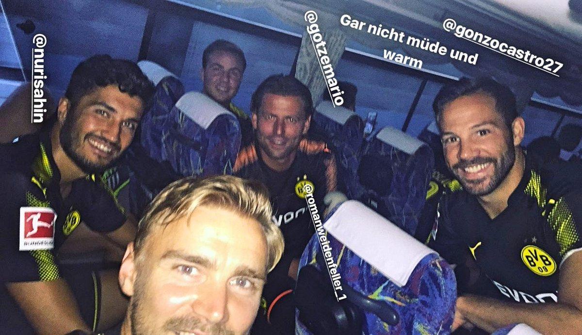 Marcel #Schmelzer, Gonzalo #Castro, Roman #Weidenfeller, Mario #Götze and Nuri #Sahin on the way.  #AsiaTour #BVB (via InstaStory)<br>http://pic.twitter.com/koIYJupuRV