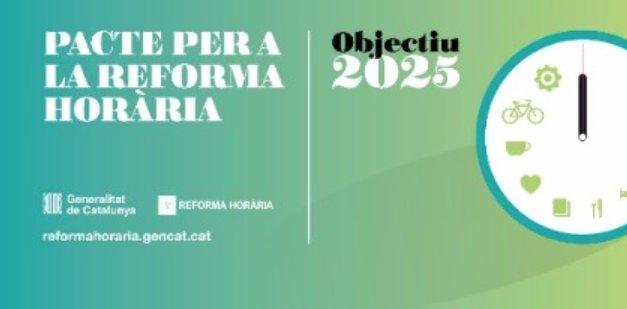 110 organitzacions i agents socials juntament amb el govern de la Generalitat, signaran avui el Pacte per a la Reforma Horària