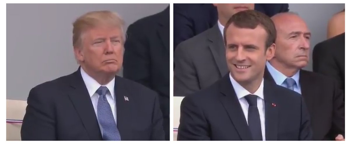 The two leaders' faces as they watch on. https://t.co/cmbFrU2fwL