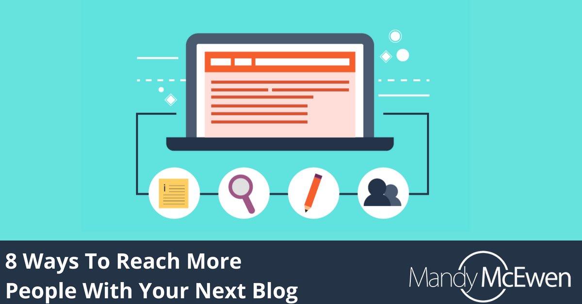 8 Ways To Reach More People With Your Next Blog https://t.co/WvrBur36oe via @ModGirlMktg @MandyModGirl