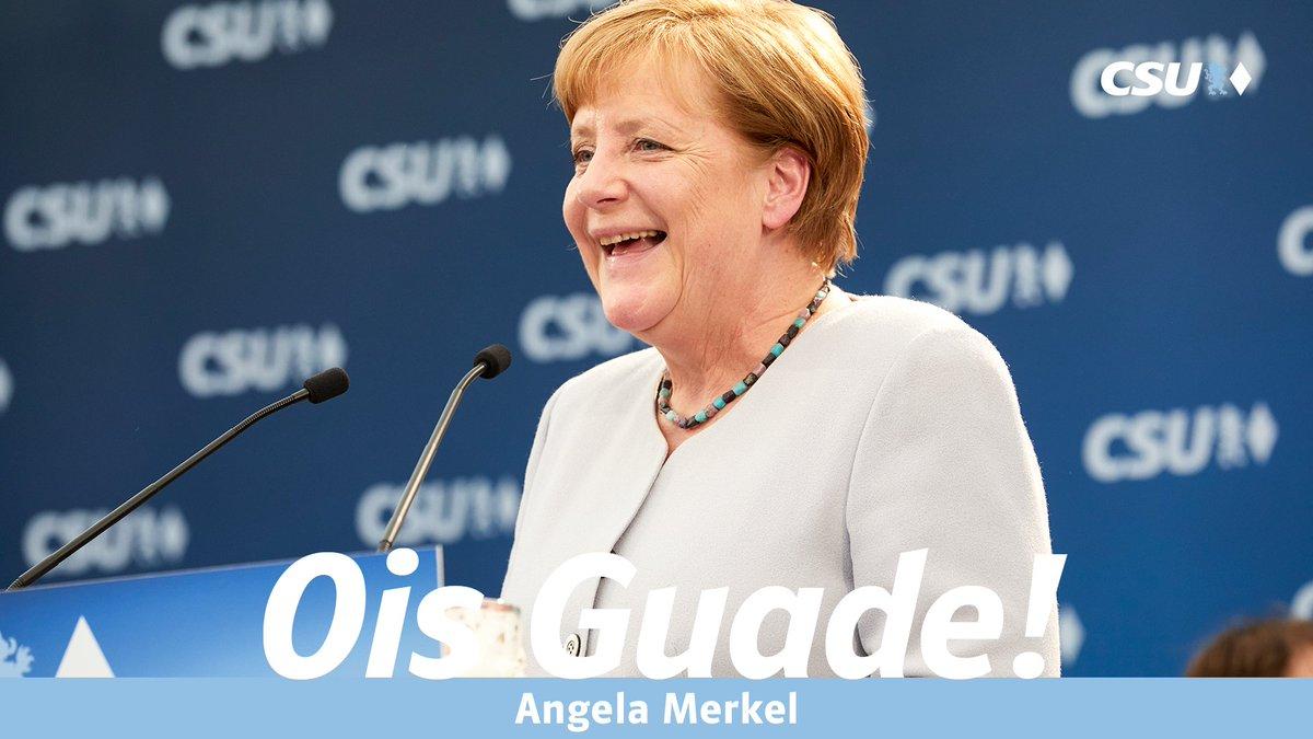 """Uživatel CSU Na Twitteru """"Wir Wünschen Bundeskanzlerin Angela"""