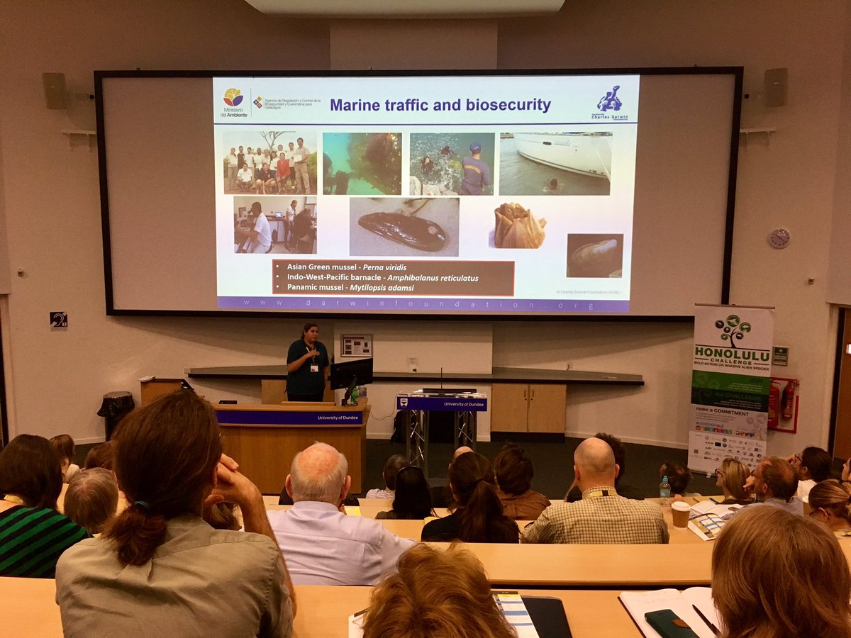 Inti Keith talking about marine invasives; a poorly understood and exciting field. #biosecurity #islandinvasives #galapagos<br>http://pic.twitter.com/EKJ8aCt8bE