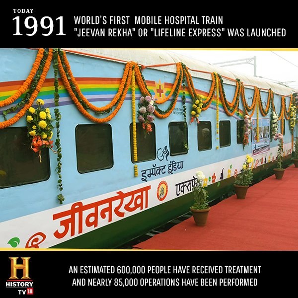 Known as the 'magic train of india', the train has helped over 10