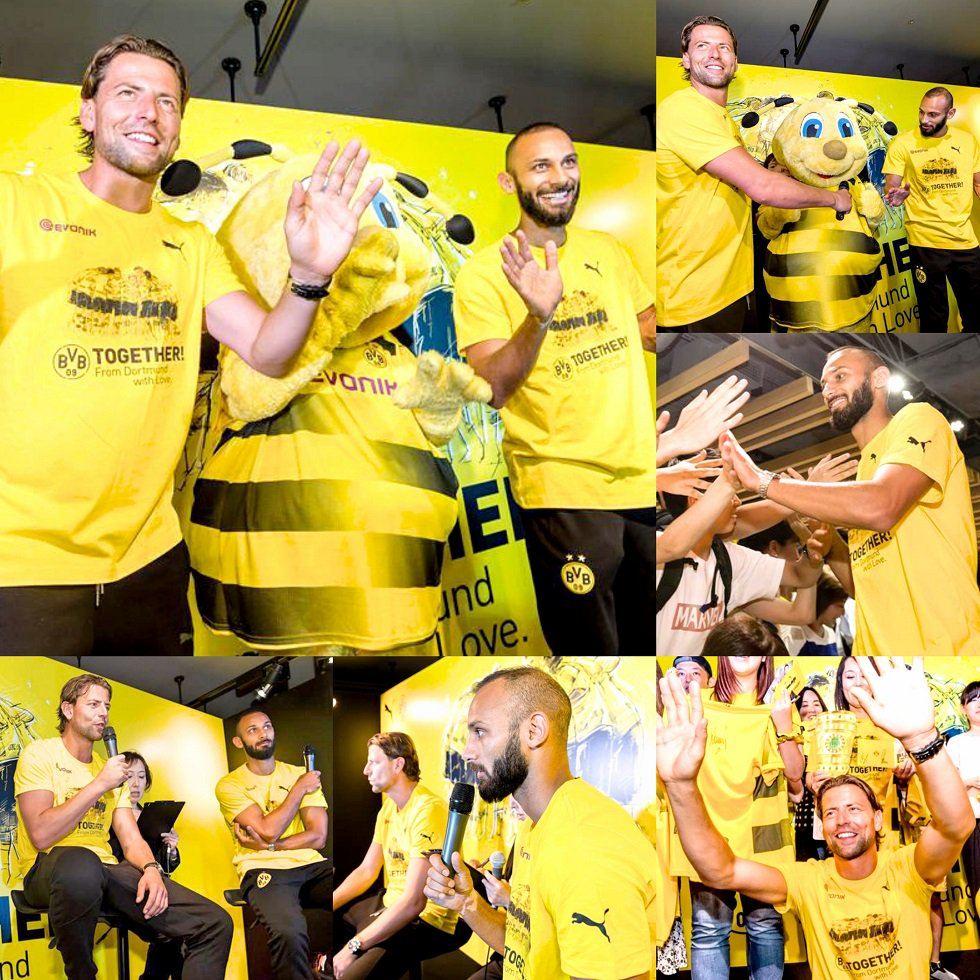 The autograph session with Roman #Weidenfeller and Ömer #Toprak on the first day of #AsiaTour on 14 July  #BVB<br>http://pic.twitter.com/KbYODlq3wR