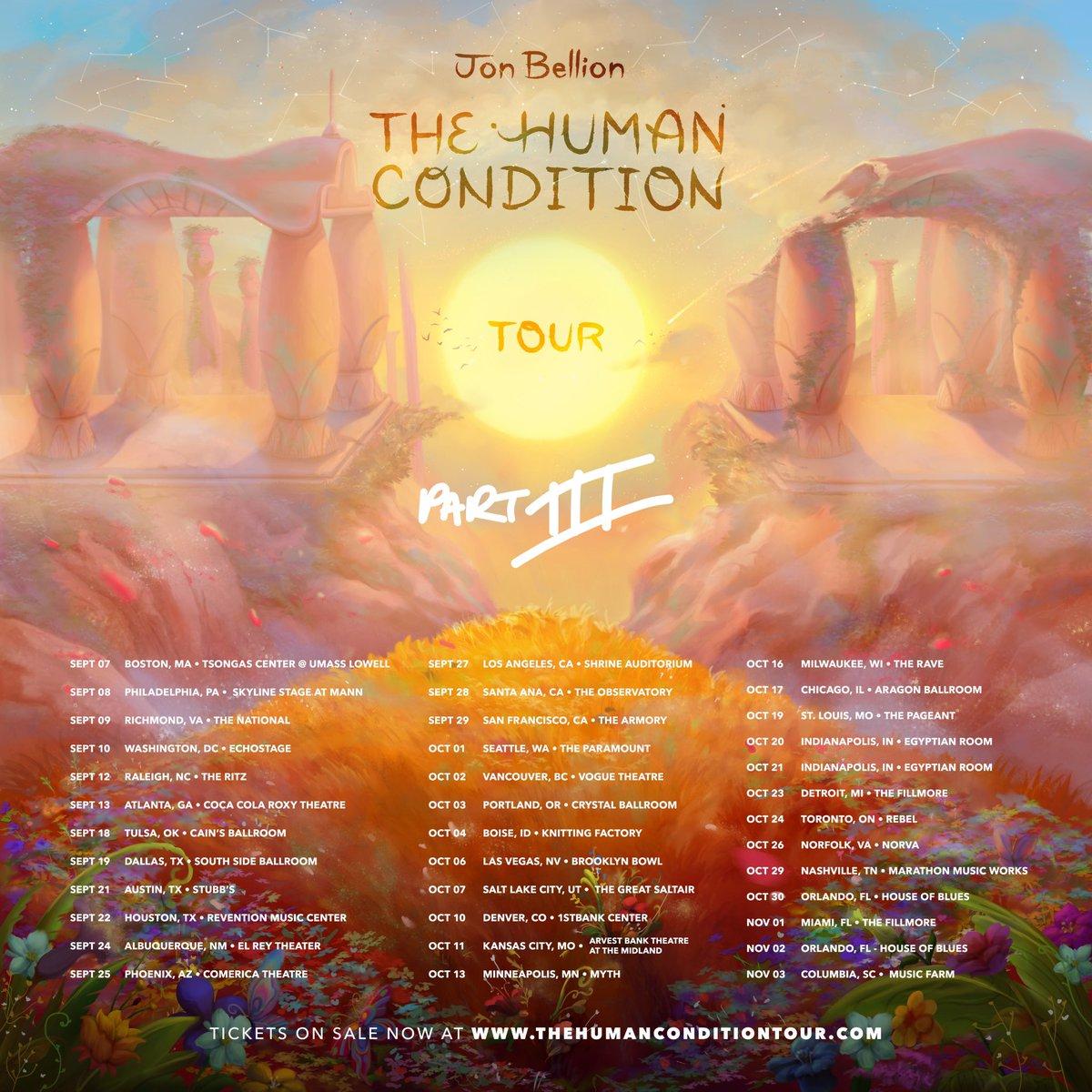 Jon Bellion The Human Condition Tour Setlist