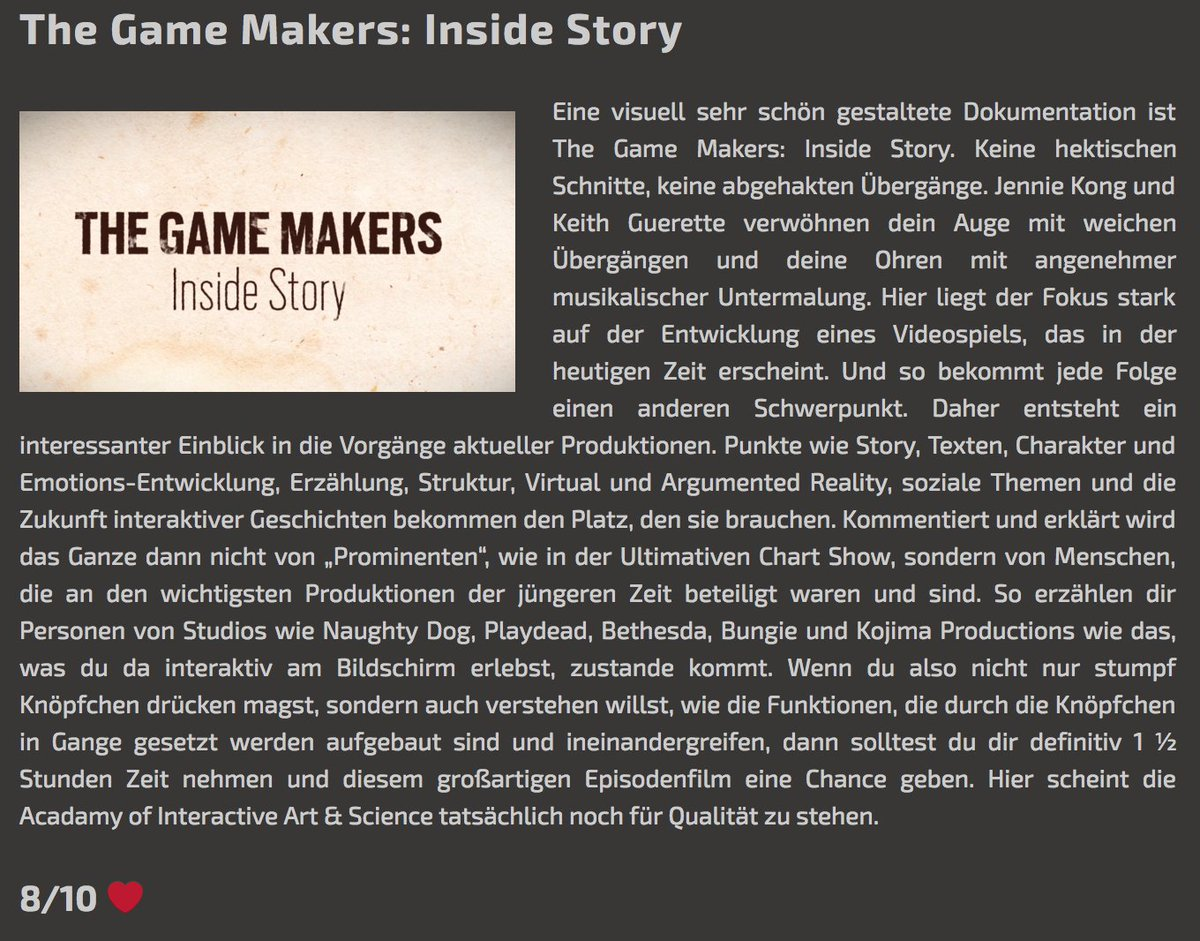 HEY @wlcm_tolastweek thanks for watching & for the 8/10 review of @Official_AIAS #TheGameMakers, appreciate the <3 alturl.com/c8ooe