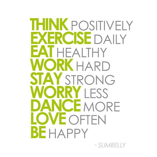 Think Positive and Be Happy #slimbelly #fitnessfriday