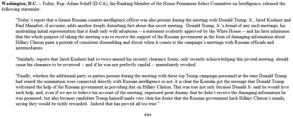 If former intel officer present, even more damning. Regardless Kremlin got clear message that Trump campaign welcomed its help. Here's why: