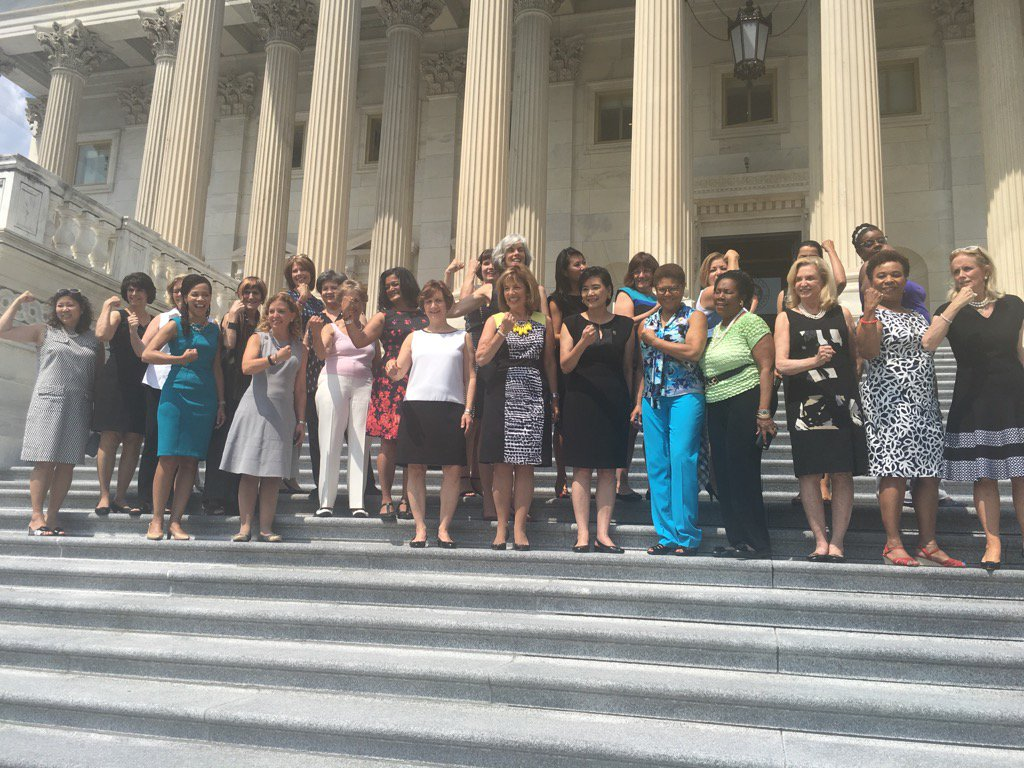 Thank you to all my colleagues who joined me for #SleevelessFriday -- because women have the right to bare arms! https://t.co/PhMEf2v4ZP