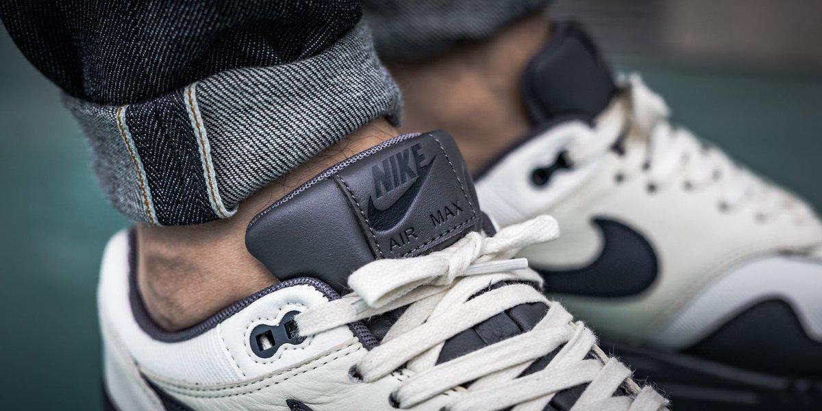 Nike Air Max 1 Premium - Sail Dark Obsidian-Dark Grey SHOP HERE   https   t.co 2NAswN8Pqh…