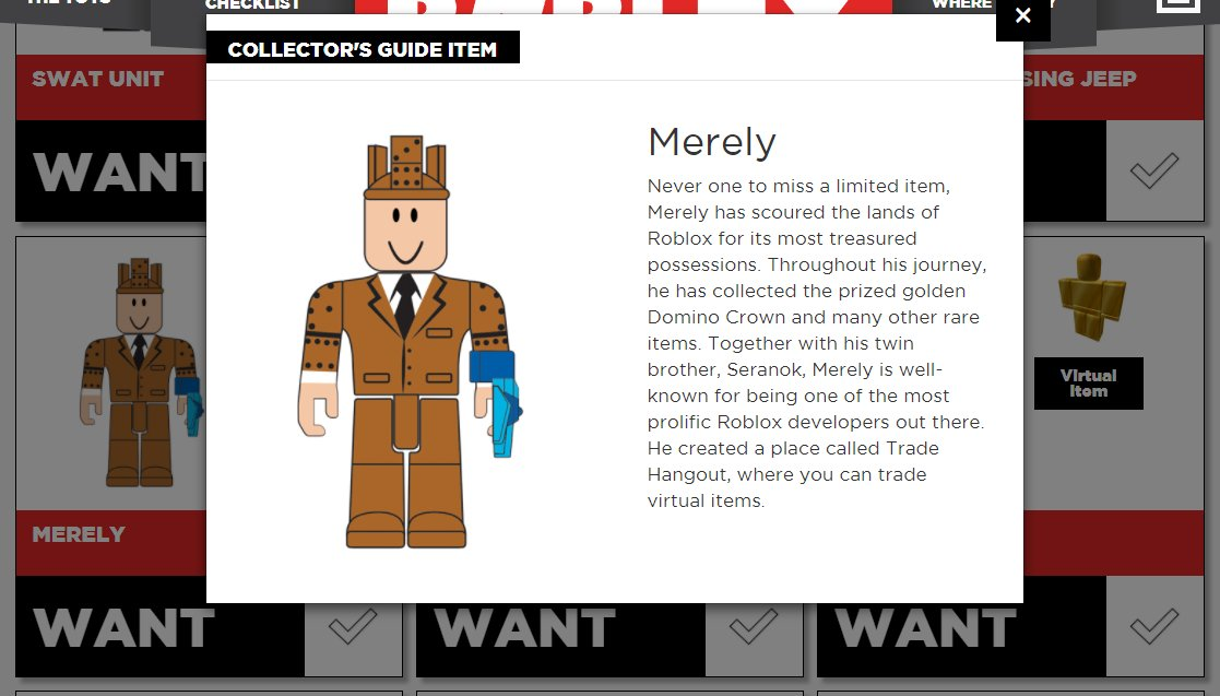 Roblox Chaser Toys Merely On Twitter The Roblox Toys Checklist Has Been Updated With Series 2 Https T Co Ajrspgqkkt