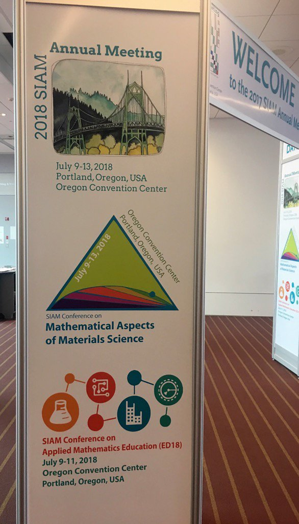 As #SIAMAN17 draws to a close, save the date July 9-13, 2018 for #SIAMAN18 in Portland! https://t.co/Tdqc2fHbdD