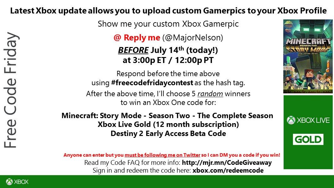 Minecraft Xbox One Redeem Code Free