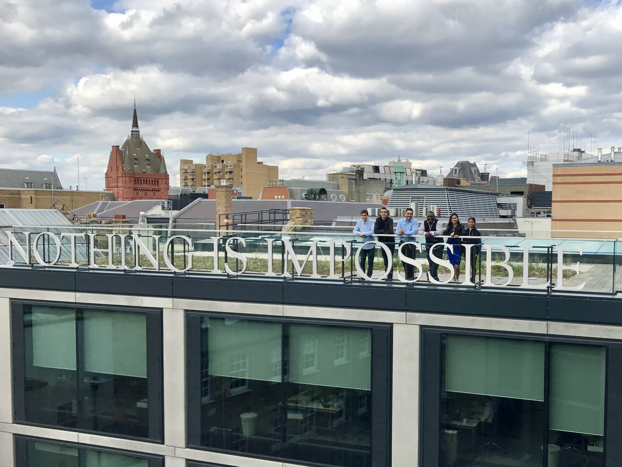 We've loved having @Capital__City's students at @saatchilondon this week and showing them that #NOTHINGISIMPOSSIBLE https://t.co/4nXgFsGm4e