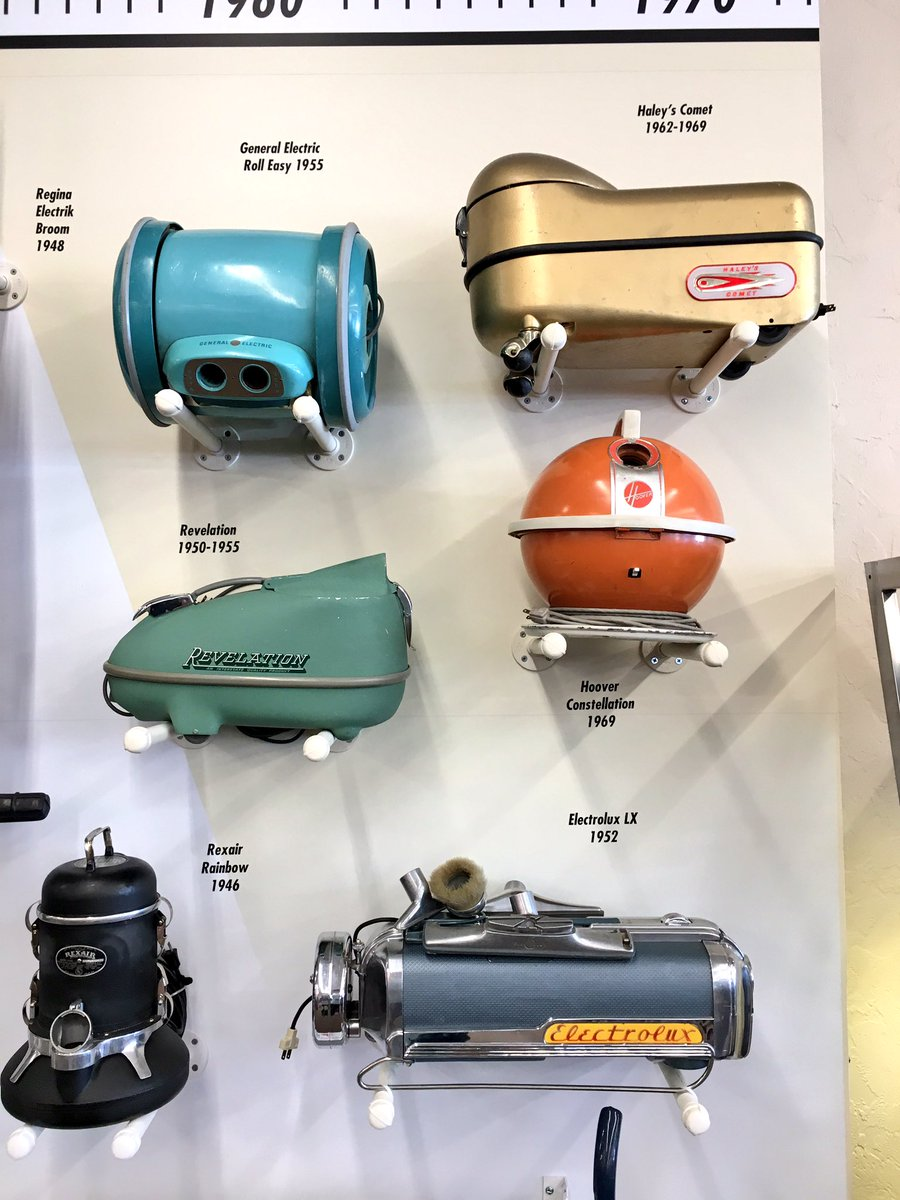 The Frugal Traveler On Twitter Old Vacuum Cleaners From Mini Museum Inside Starks Vacuums Theyre So Cute They Look Like Star Wars Characters