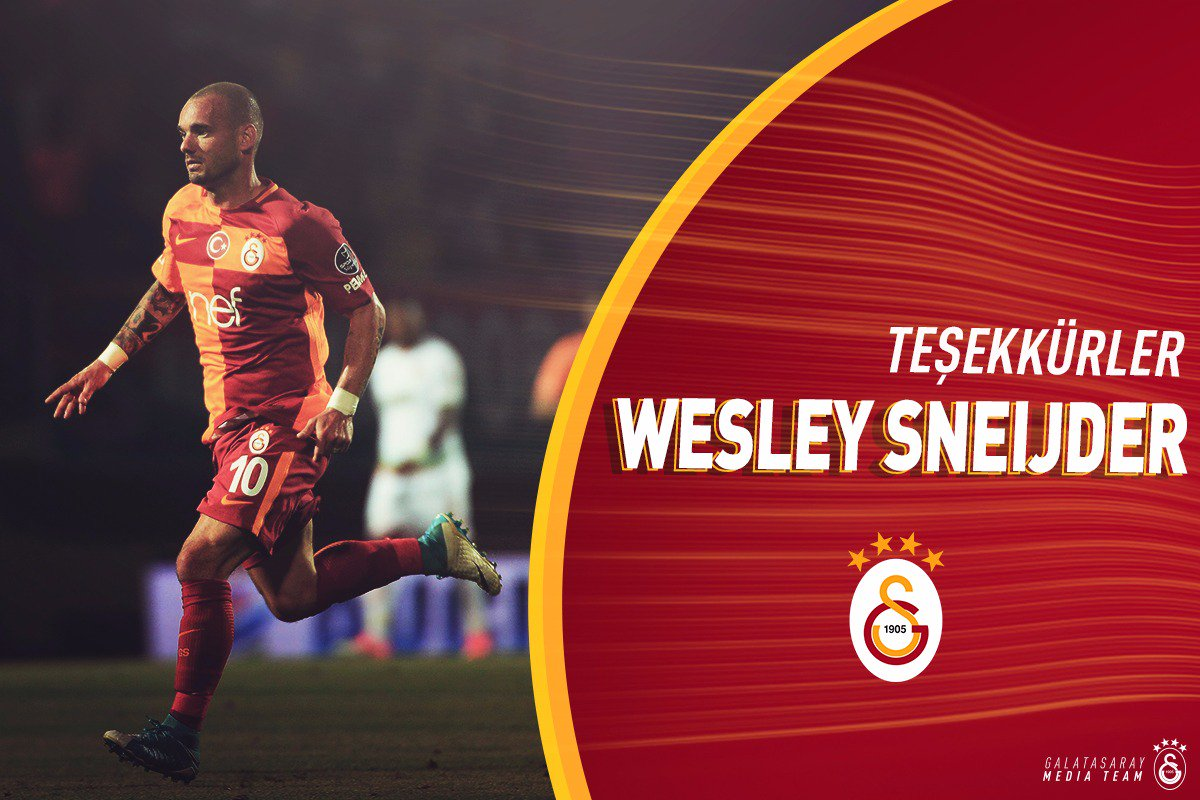 """Galatasaray SK on Twitter """"Teşekkürler Wesley Sneijder s t"""
