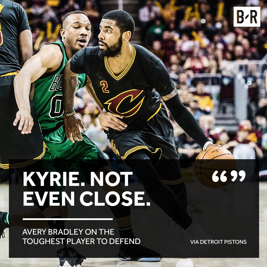 Kyrie can't be handled on the court.
