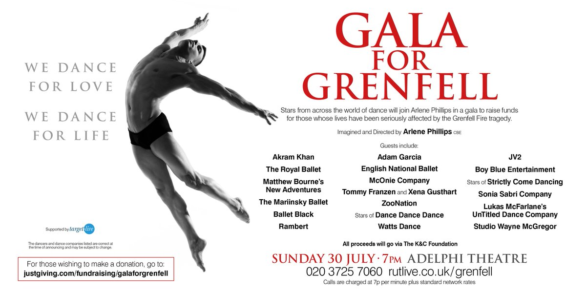 A great line-up for the @GalaForGrenfell  - Sunday 30 July at the Adelphi Theatre https://t.co/05WMiJyZF8