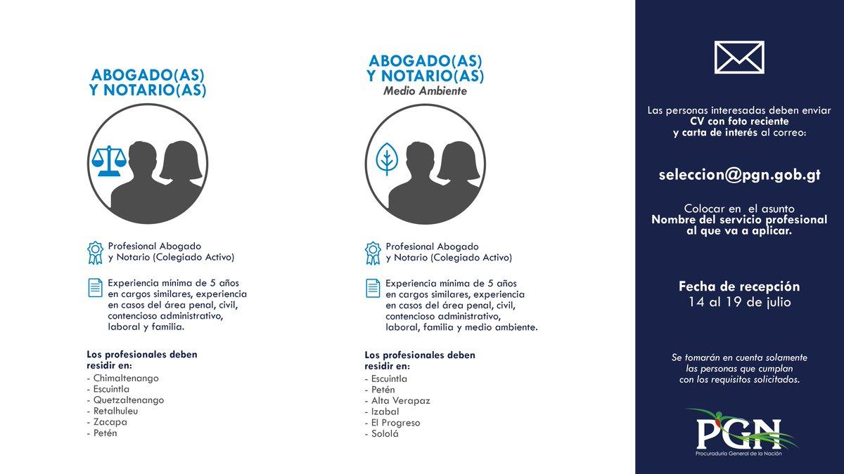 Pgn Guatemala على تويتر Oportunidadlaboralpgn