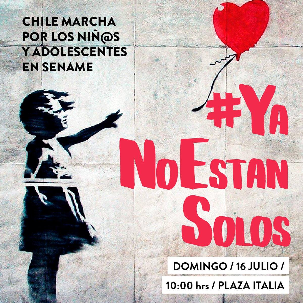 Nos sumamos a la marcha familiar por la infancia este domingo a las 10:00 hrs. en Plaza Italia! #YaNoEstánSolos https://t.co/WyI9SvgsyK