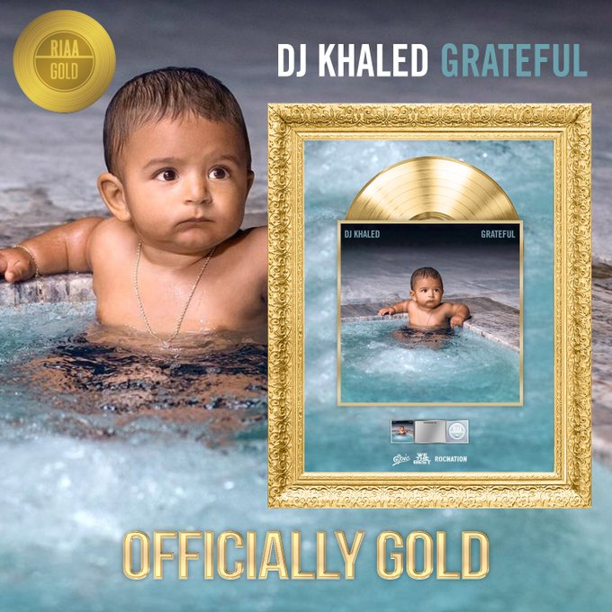 %name DJ Khaleds Grateful Earns Gold Certification