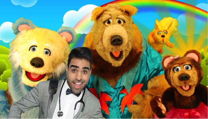 It's finally here! Our NEW live show 'Dr. Ranj's Teddy Bear Hospital' with @FrankBearfoot debuts at @boromela today! Come say hi! @lovembro https://t.co/6QVEaIKfrQ