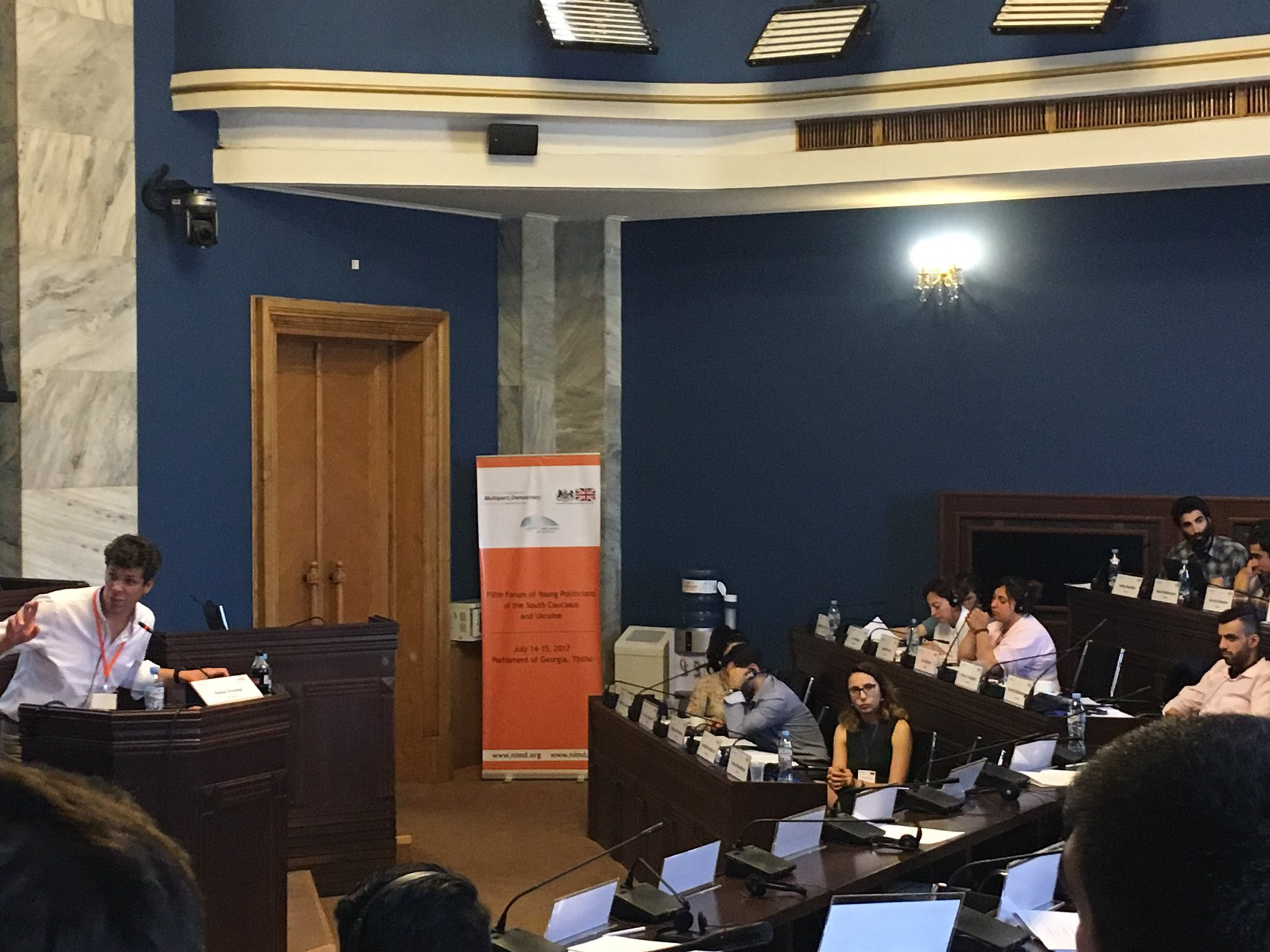 The #youngpoliticians split into groups to learn from software developers and international experts on digital tools. #DigitalDemocracyForum https://t.co/UOfs0EGwi8