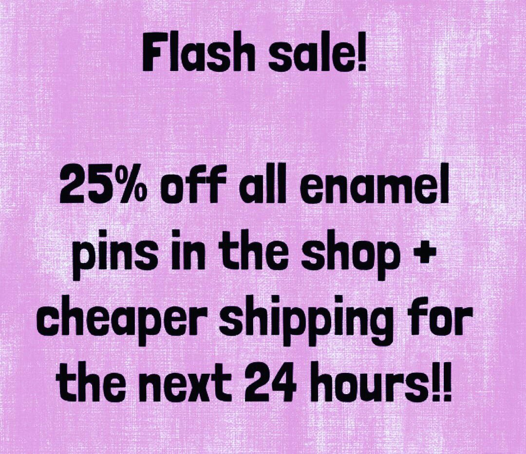 I&#39;m doing a flash sale in my Etsy shop for the next 24 hours! Head to  http:// radicalbuttons1.etsy.com  &nbsp;   &amp; treat yourself!! #pins #feminism #lapelpins <br>http://pic.twitter.com/7xR98PXeMC
