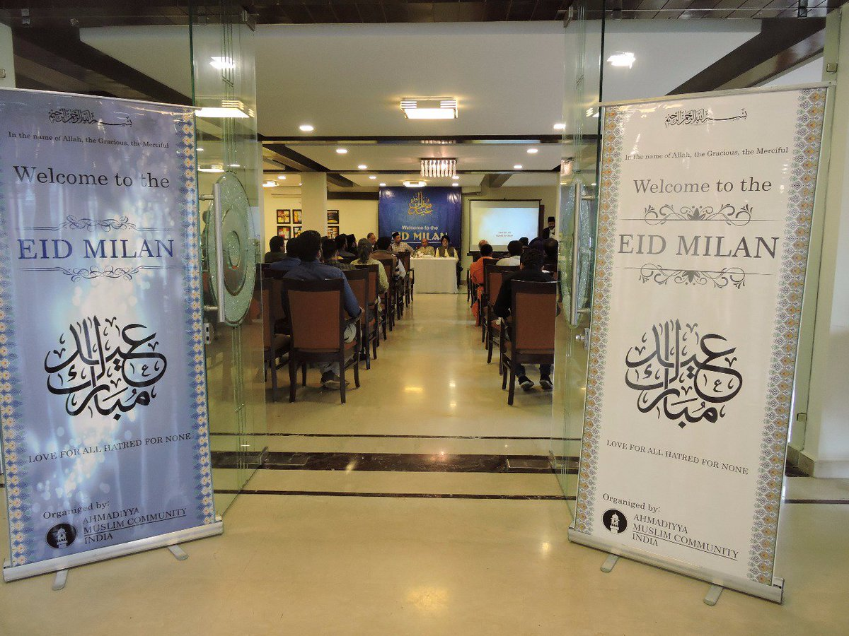 #EidMilan, a program to develop communal #Peace &amp; mutual #Brotherhood once again organised by #AMJ; this time by our #Shimla chapter<br>http://pic.twitter.com/5tItGNMpZ3