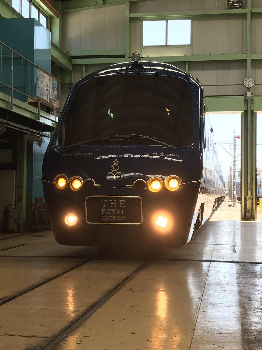 伊豆観光列車「THE ROYAL EXPRESS」の外観。 #鉄道 #鉄道ニュース #電車 #伊豆急行 #アルファリゾート21 #水戸岡鋭治