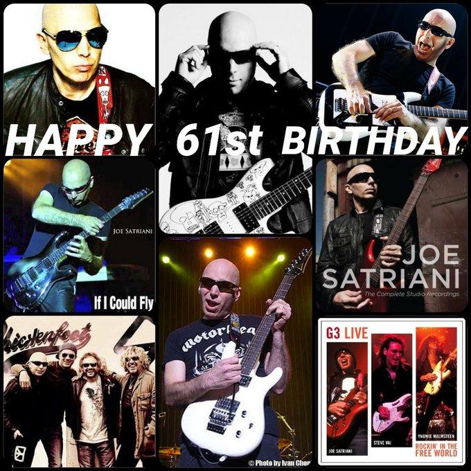 Happy 61st Birthday Joe Satriani