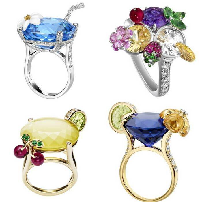 TLで見たピアジェのモヒートリングが素晴らしすぎて他のデザインを確認したところ、様々なカクテルをモチーフにした涼しげで素敵な指輪がたくさんありました!「Limelight リング カクテル インスピレーション」というシリーズだそうです✨ 宝石の良さが最大限に引き出されていますね。