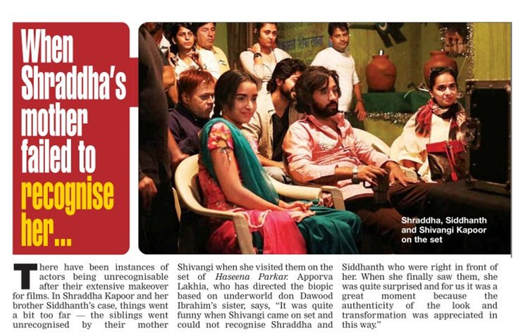 [SCAN]: When @ShraddhaKapoor's Mother Failed To Recognise Her!