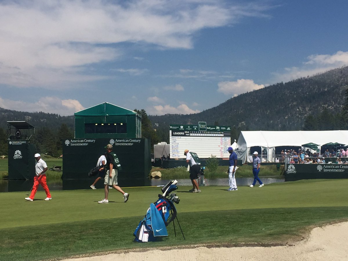 A few pics from yesterday's first round at @EdgewoodTahoe #ACCGolf
