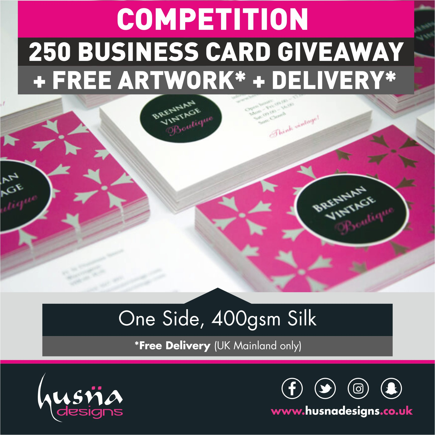 250 Free Business Cards Uk