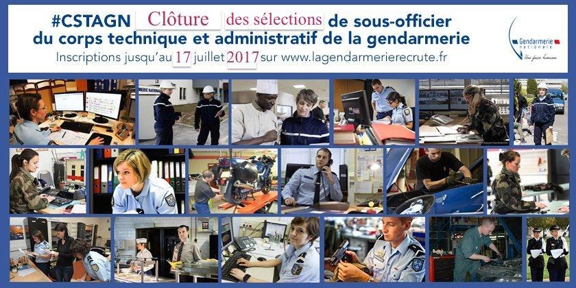 gendarmerie nationale on twitter visenbleu inscrivez vous avant lundi aux slections et devenez sous officier du corps technique et administratif