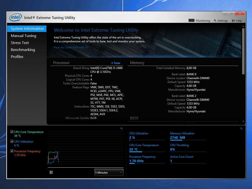 Intel Extreme Tuning Utility Xtu 63054 Englisch