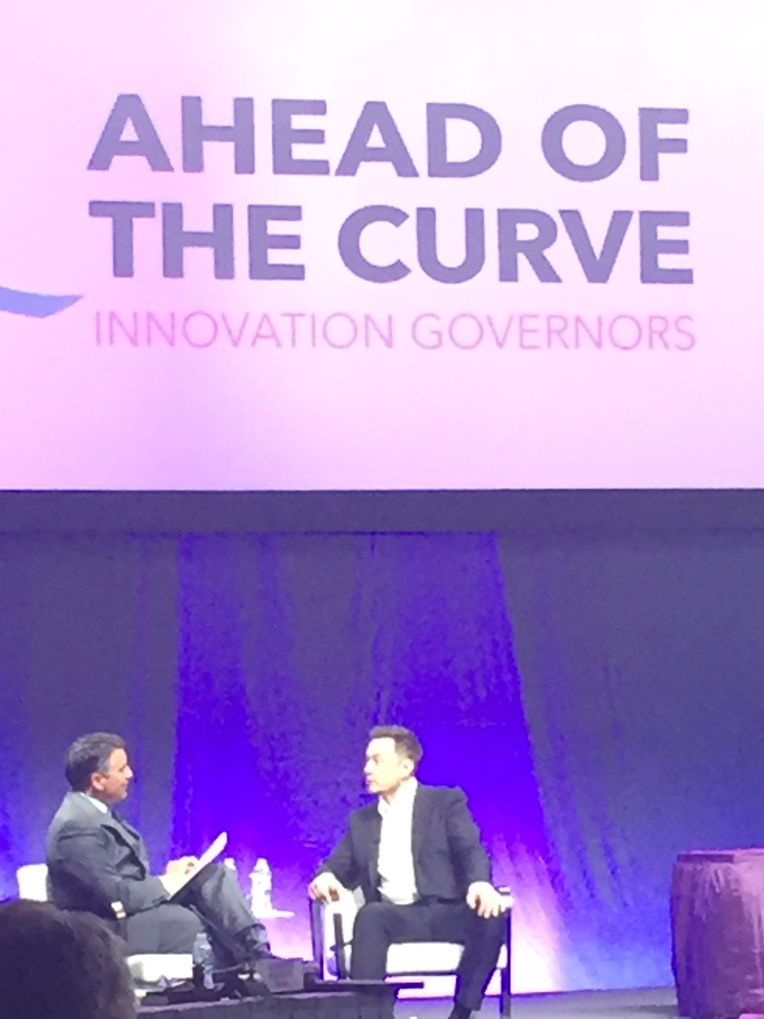 NV Gov @BrianSandoval discusses how to make life multi planetary and keep ahead of the curve with @elonmusk at @NatlGovsAssoc mtg https://t.co/kHgnX6PPBY