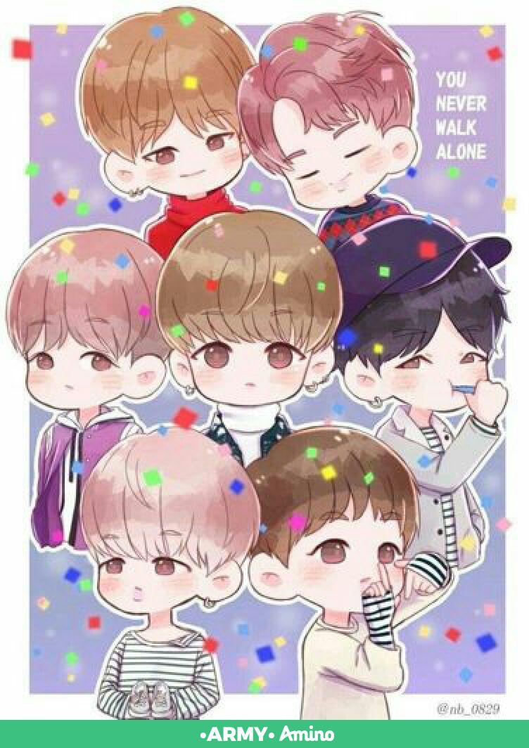 Korean Bts Bts Kartun