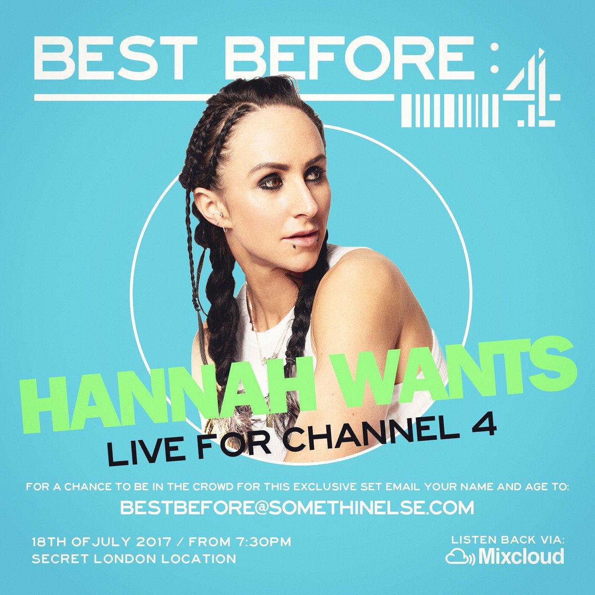 Hannah Wants on Twitter: