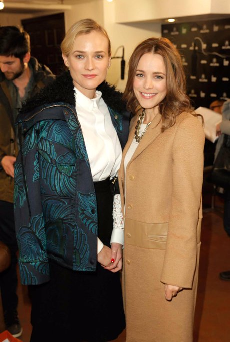 Happy Birthday, Diane Kruger! Pictured here with Rachel at Sundance in 2014.