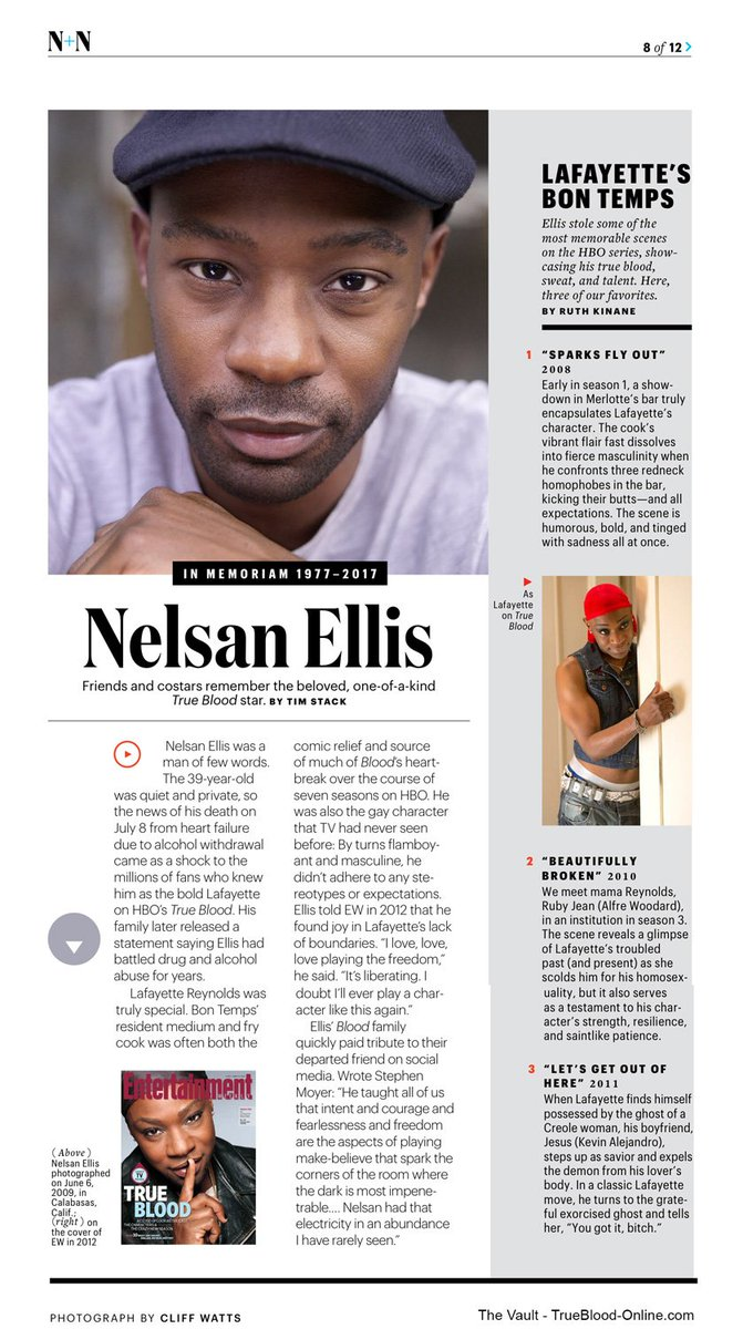 Nice Tribute to @OfficialNelsan in this week's EW Mag.  RIP my friend, we miss you much! https://t.co/OCCpDxRxkT