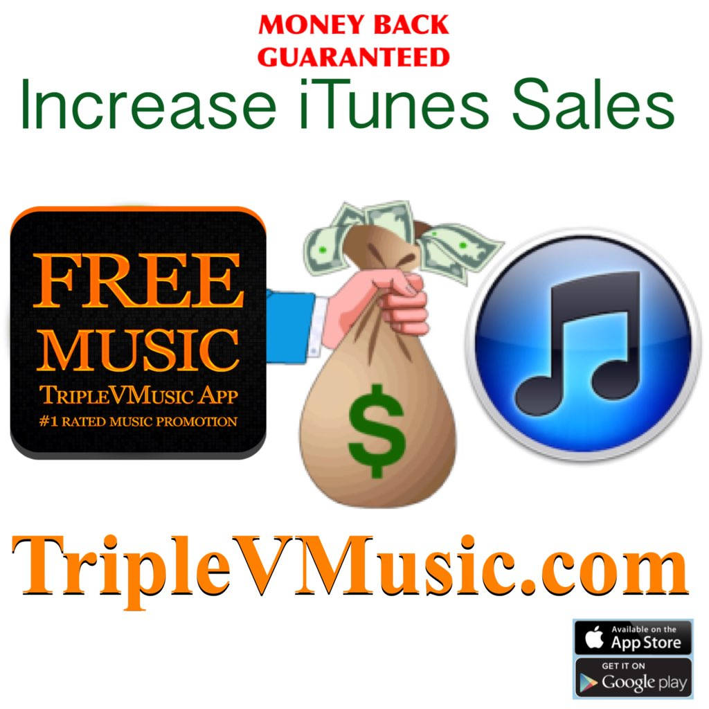 RT &amp; LIKE  http:// TripleVMusic.com  &nbsp;   will guarantee we can increase your #music sales or MONEY BACK! #MusicNews recordlabel musician singer <br>http://pic.twitter.com/pVOxhBBni9