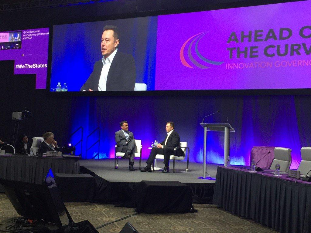 Gov Sandoval, new Chair of @NatlGovsAssoc, chats w/ @elonmusk about magic of invention #WeTheStates #GiddyUp https://t.co/XfiFShk2vW