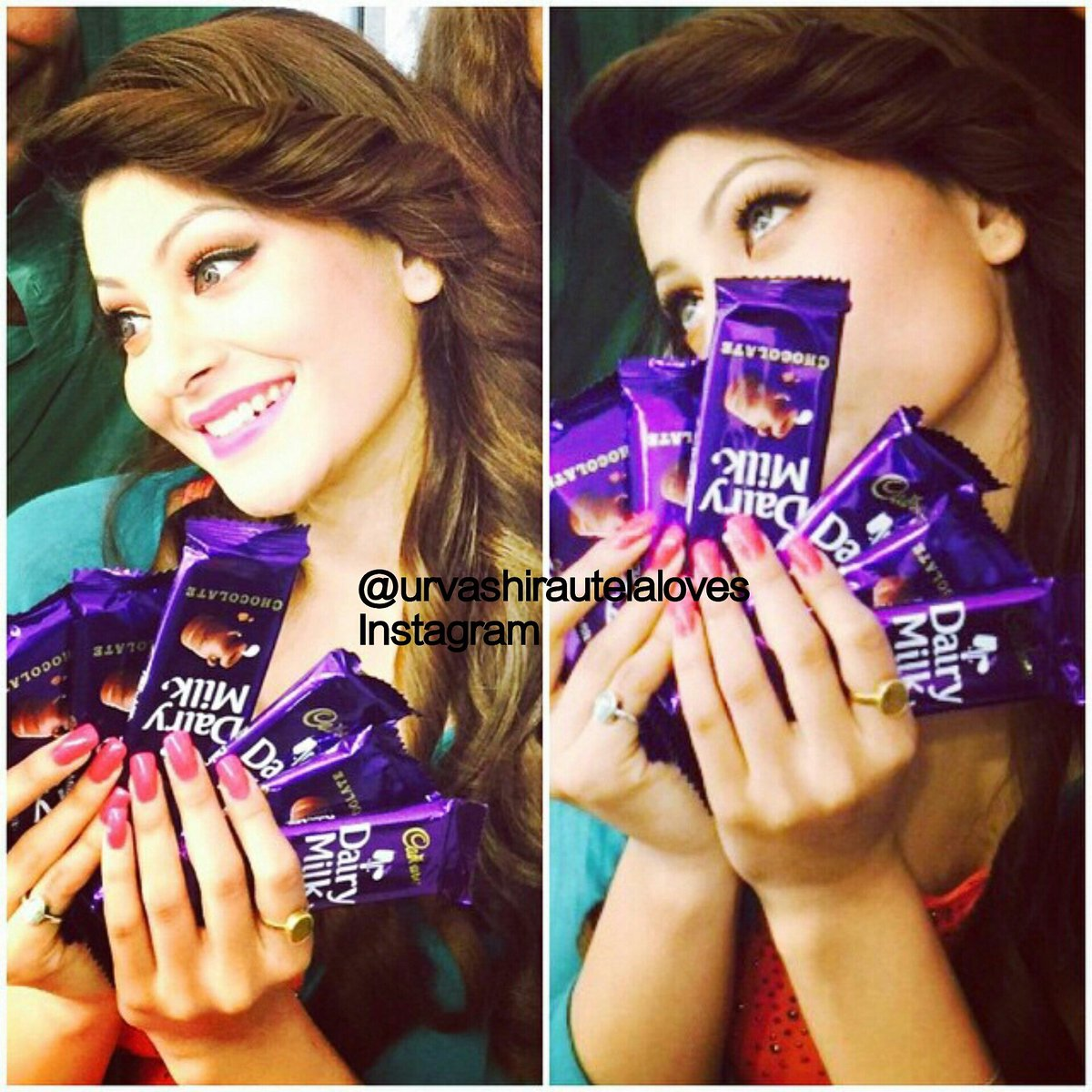 She loves chocolate  And we love her  Good night guys // #urvashirautela #gainfollowers #commentbellow :) \\ @URautelaForever<br>http://pic.twitter.com/U5m9WBQXEs
