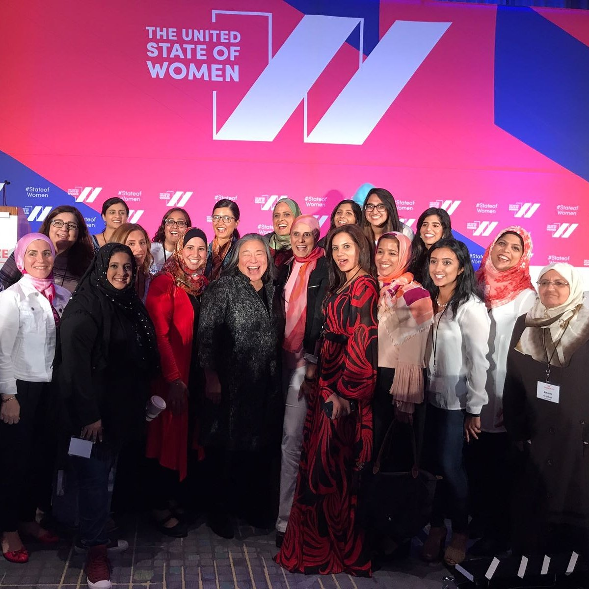 Here are your Muslim women leaders ready to make change happen. We are United #StateofWomen. #GalvanizeChicago