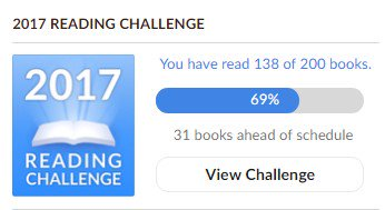 Jen's 2017 Progress Toward 200 Books Read