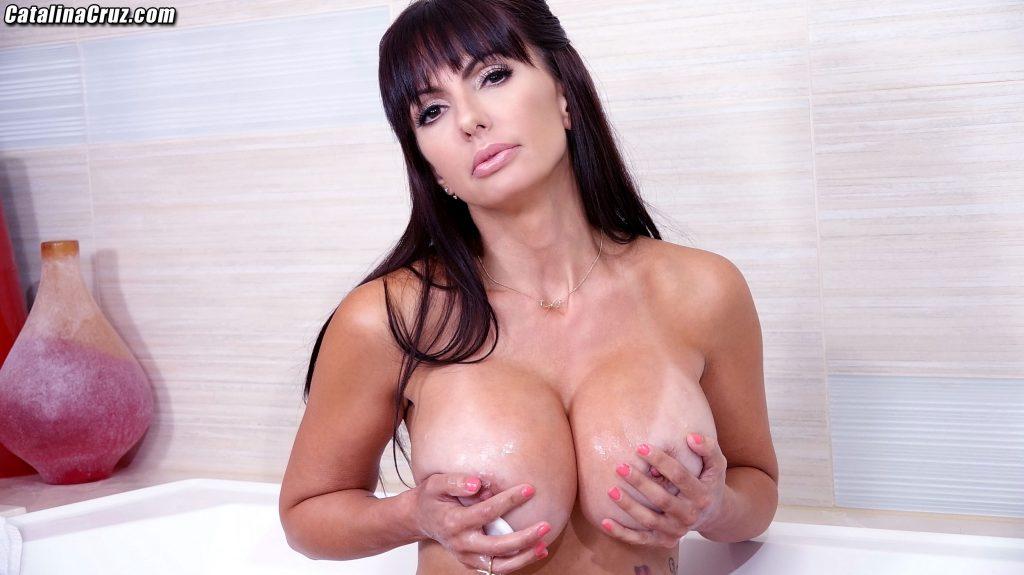 Catalina Cruz taking a hot bath is sensual and erotic to me