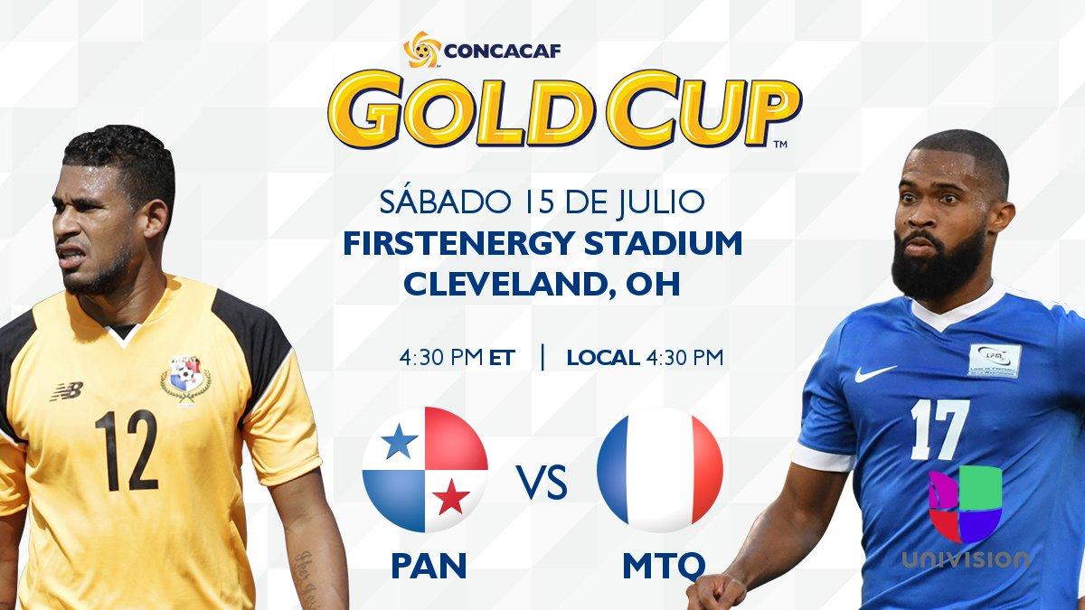 #PAN  v #MTQ  por @UnivisionSports 4:00pm ET  : http:// bit.ly/2t2FUIB  &nbsp;   O : http:// bit.ly/2uvkF6S  &nbsp;   @fepafut @LFM972_officiel #CopaOro2017  <br>http://pic.twitter.com/dlPoXDoHNH