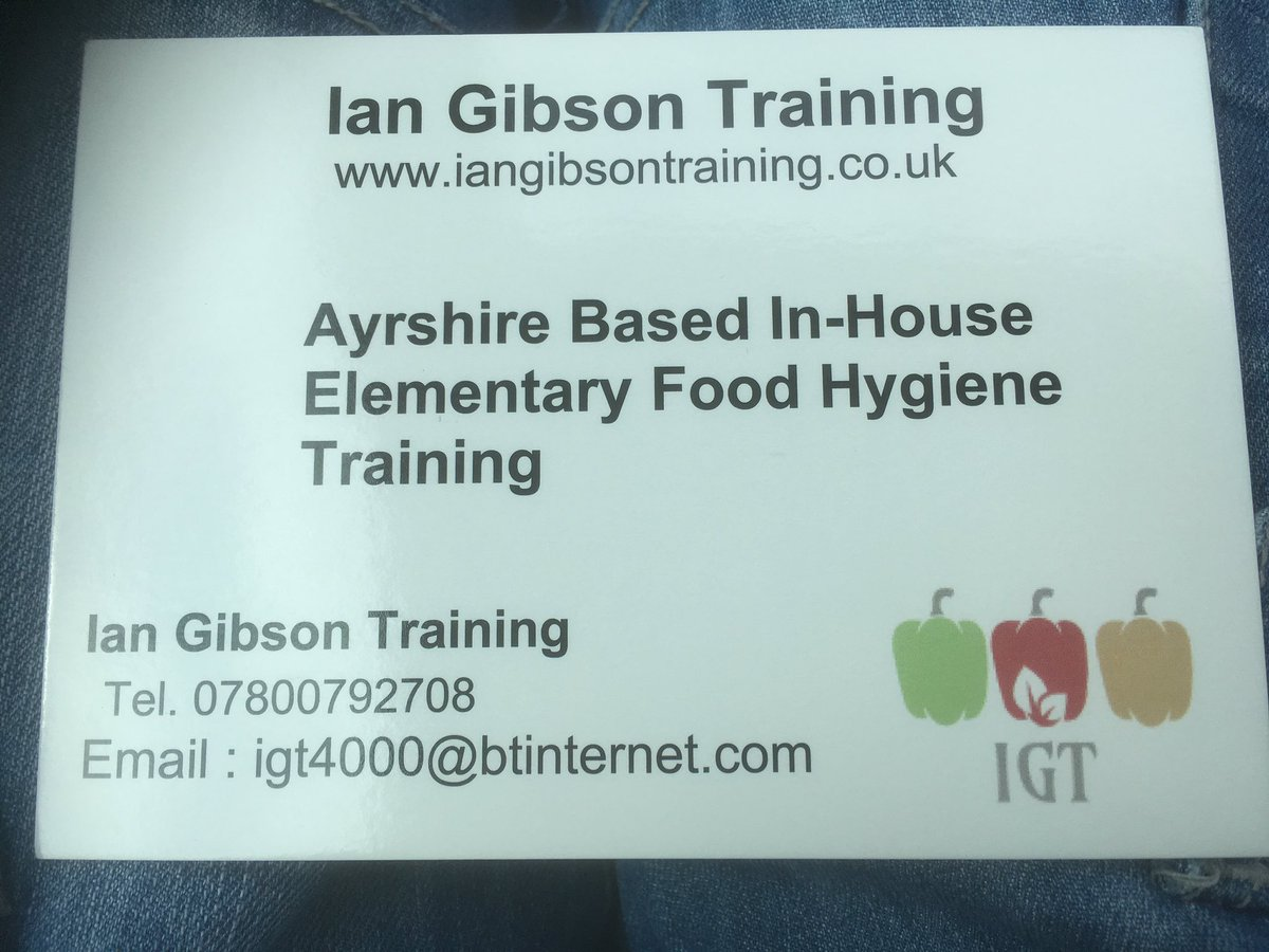 Ian Gibson Food Hygiene Training At Igt4000 Twitter